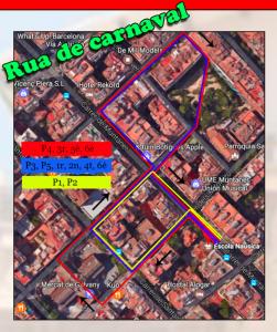 rues de carnaval de l'escola Nausica